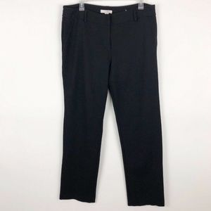 Chico's Sz. 3 Black Ponte Knit Ankle Pants